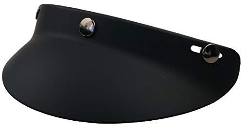 Iguana Custom Visera corta negra mate para cascos de moto vintage universal. Valida para todos los cascos jet o integrales con tres corchetes en la frente.
