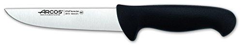 Arcos Serie 2900, Cuchillo Carnicero, Hoja de Acero Inoxidable Nitrum de 160 mm, Mango inyectado en Polipropileno Color Negro
