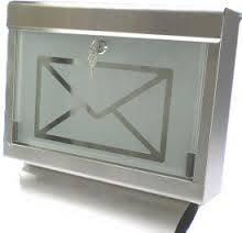 Edelstahl Standbriefkasten mit Zeitungsfach Briefkasten Glasfront \'Graz\'