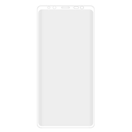 UKCOCO Compatible avec Samsung Galaxy Note 9 Film trempé Doux Avant TPE plaqué Anti-Bleu Couverture courbée à Plein écran Anti-Explosion Anti-Goutte Précision Découpe du Verre Film (Blanc)