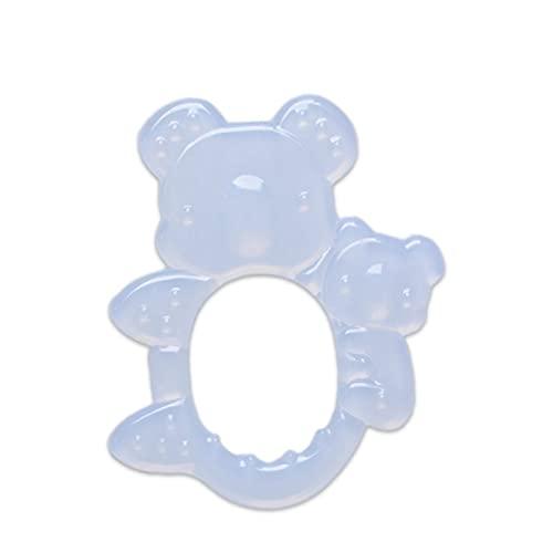 SeniorMar YJ010 Juguetes para la dentición mordedores de Silicona para bebés y niños pequeños con Pinza para Chupete, Soporte para el Dolor de Las encías