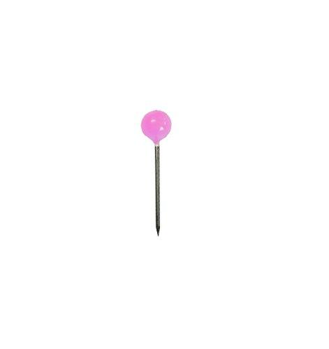 Alco-Albert 620 Landkartennadeln, Durchmesser: 5 x 16 mm, Dose 100 Stück, rosa
