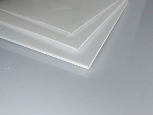 Platte aus PTFE, weiß, 195 x 195 x 0,5 mm (Teflon) Zuschnitt PTFE Dichtung