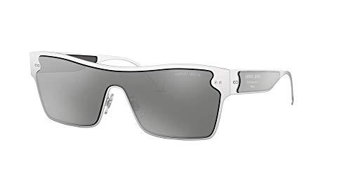 Giorgio Armani 0AR6088 Gafas de sol, Brushed Silver, 40 para Mujer