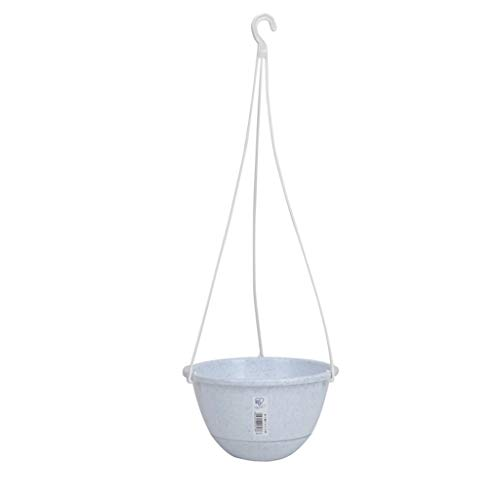 TXXM Flower Pots, Garden Pots Hanging Buckets Hanging Planter,Hanging Orchid Pot Wall-mounted Flower Pot Plastic Potted Flower Pot (Color : Gray, Size : 2L)