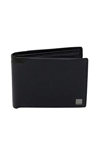 Samsonte - Cartera de piel para hombre con monedero, con 7 bolsillos para tarjetas de crédito RIFD Protected