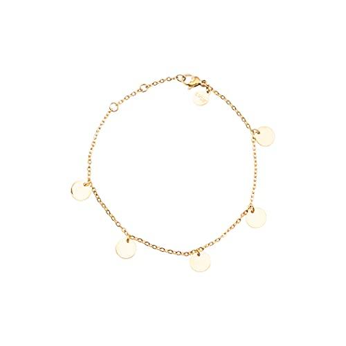 LUUK LIFESTYLE Elegantes pulseras de acero inoxidable de calidad en diseño moderno, regalo de joyería único, accesorios de moda versátiles y combinables, en oro, plata y oro rosa