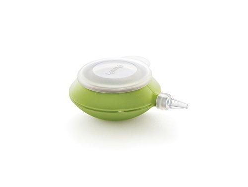 Lékué DecoPen - Biberón de Cocina de Silicona para decoración, Cuatro boquillas, Color Verde