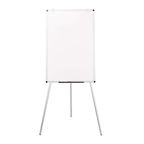 VIZ-PRO Whiteboard mit Ständer/Flipchart-Staffelei, beschreibbar, abwischbar, magnetisch, 900 x 600 mm