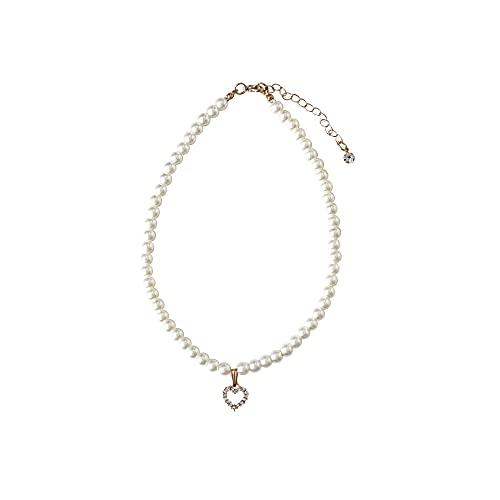 [アリサナ]arisana ネックレス キッズ パール 真珠 ハート チャーム付き フォーマル アクセサリー こども 女の子 パールホワイト