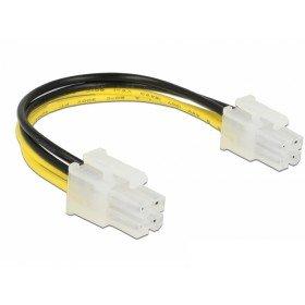 DeLock Kabel P4 Stecker P4 Stecker, schwarz/gelb