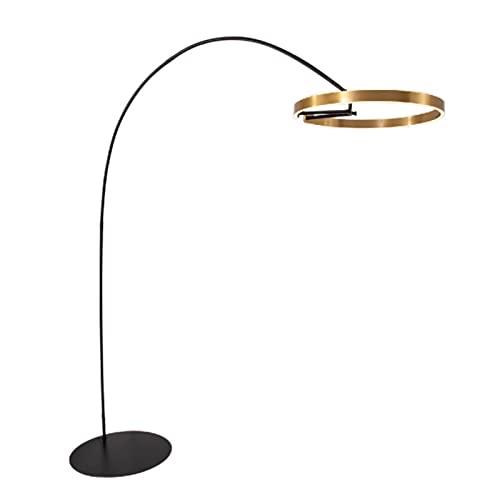 Lámpara de pie Personalidad Curvo Comedor Estudio sofá vestíbulo lámpara de pie Dormitorio Simple Sala de Estar lámpara de pie,Gold,210 * 60