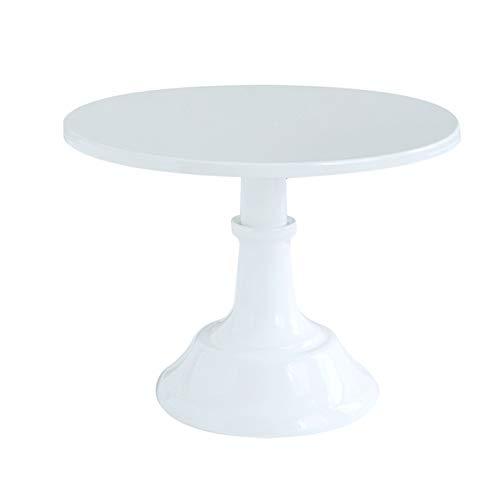 LNIMIKIY - Alzata per torte di compleanno, vassoio rotondo, per scrivania, per matrimoni, tè pomeridiano e dessert, per casa, baby shower e come decorazione (nero), bianco, Taglia libera