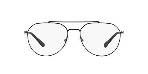 AX Armani Exchange Ax1029 Marcos de gafas de aviador de metal para hombre, Negro mate/lente de demostración., 57 mm