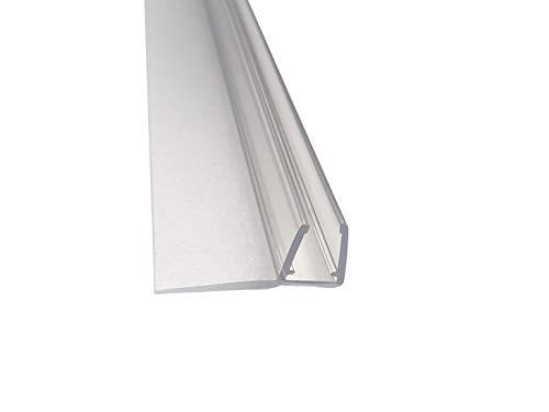 Kristhal Überlappungsdichtung (Schiebetürdichtung) senkrecht mit langer Lippe, für 6 und 8 mm Glasstärke, 200 cm Länge, Made In Germany, Art. Nr. 5240 200 cm