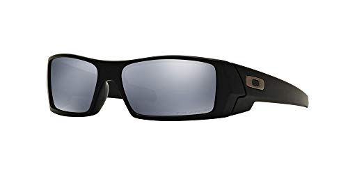Oakley GASCAN OO9014 Sunglasses For Men + Accessories Bundle (Matte Black/Black Iridium Polarized (12-856), 61)