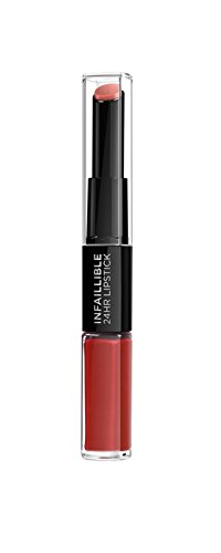 L'Oréal Paris Pintalabios 24H Permanente, Color Rojo 506 Red Infallible