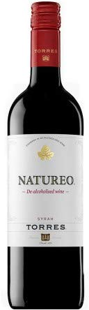 VINO NO ALCOHOLICO, Natureo, Familia Torres, vino tinto, syrah (caja de 6x75cl)
