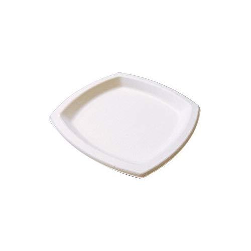 Assiette carree ø 17 cm pulpe x25-25 pièces