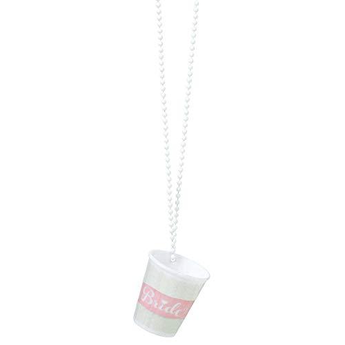 amscan 9900509 Schnapsglas Halskette Hen Night, Rosa, Weiß