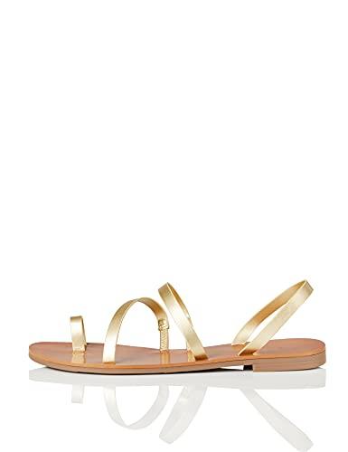 find. Sandali alla Schiava Multi-Strap Donna, Oro (Gold), 38 EU