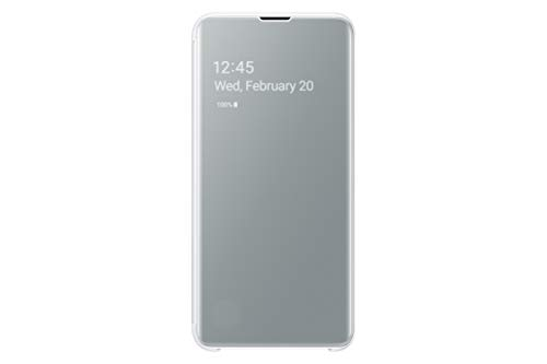 Samsung Clear View Cover, funda oficial para Samsung Galaxy 10+, color blanco