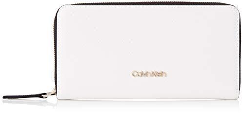Calvin Klein Damen Ck Must Ziparound Wallet Lg Cav Geldbörse, Weiß (White), 1x1x1 cm