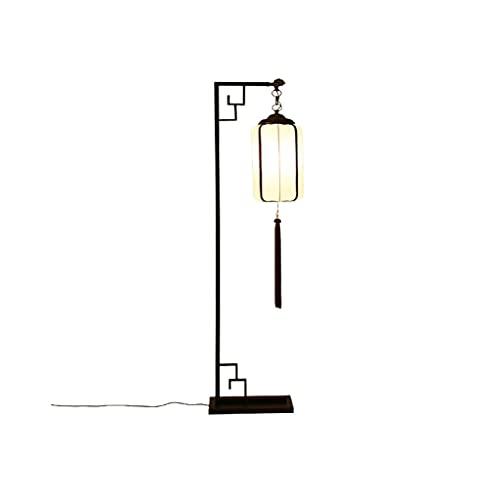 LUAN Control Remoto Lámpara de Piso Sala de Estar Vertical LED Estudio Dormitorio clásico Moderno Minimalista Atmósfera Piso Lámpara (Color : Black)