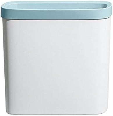 ゴミ箱 8L フタなし うす型 ごみ箱 省スペース ごみばこ シンプル且つおしゃれ 28x14x25cm ホワイト+ブルー