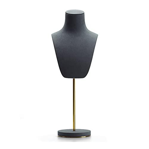 MENGGE Support De Bijoux De Mannequin Portrait, Réglable De Bijoux en Métal De Haut Niveau, Support De Bijoux De Collier Pendentif (Color : Dark Gray 2)