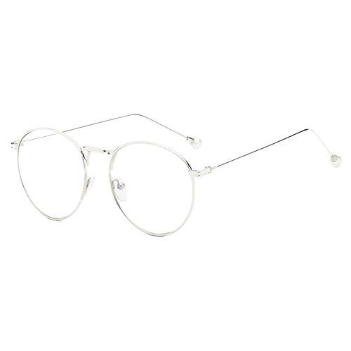 GEMSeven Perle Myopie Brille Für Frauen Elegante Metall Round Frame Kurzsichtige Brillen