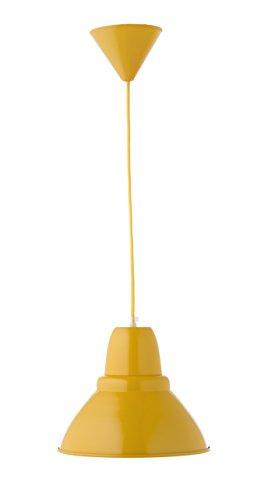 Lámpara colgante amarilla, tonalidad mostaza