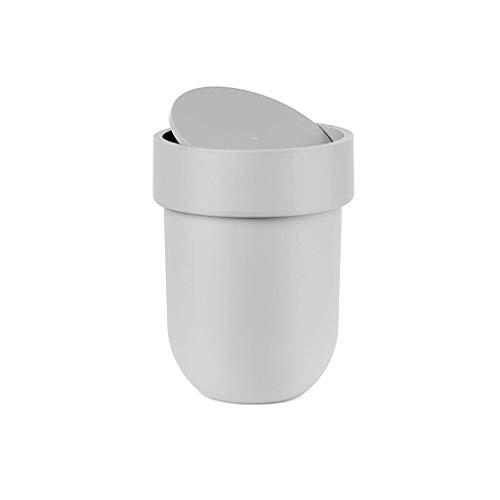 DSJMUY Papelera Papelera Cubierta de Baño Hogar Cocina Sala de Estar Papelera Plástica Papelera (Color: Gris)