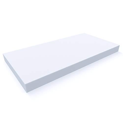 MSS e.K. Schaumstoffplatte | Schaumstoff-Zuschnitt | Schaumstoff-Polster | Matratzen-Topper Auflagen | Schaumstoff-Matte | 200 x 80 x 15 cm | RG 25/40 | schadstoffgeprüft