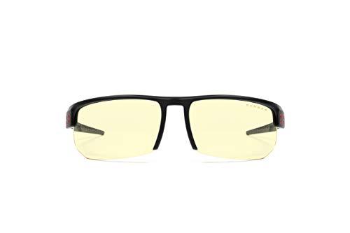 Gunnar Gaming- und Computerbrille | Torpedo, Onyx Rahmen, Amber Linse | Blue Light Blocking Glasses | Patentierte Linse, 65% Blaulicht- & 100% UV-Lichtschutz zur Verringerung der Augenbelastung