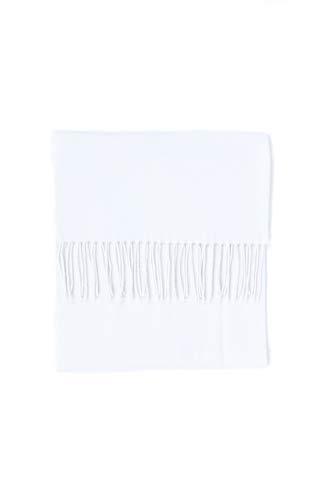 CASH-MERE.CH CASH-MERE.CH 100% Kaschmir Paschmina Schal Uni mit Fransen für Damen und Herren (Weiß/Schneeweiß, 30cm x 164cm + 8cm x 2 Fransen)