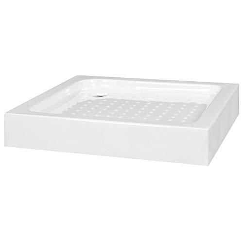 vidaXL Duschwanne Duschtasse Acrylwanne Brausewanne Brausetasse Duschbecken Dusche Bad Badezimmer 70x70x13,5cm Acryl Zinklegierung Weiß