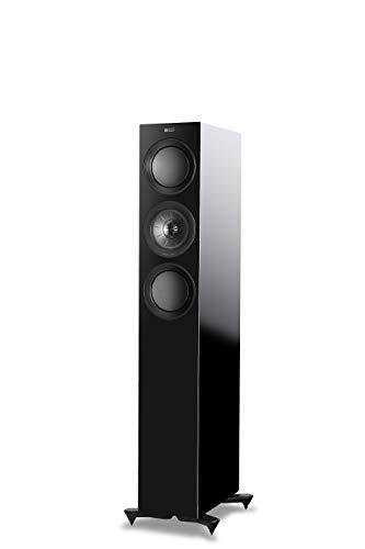 KEF R5 Floorstanding Speaker (Pair, Gloss Black) (R5BL)