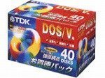 TDK 3.5型フロッピーディスク 2HD DOS/V Windows 40枚 MF2HD-BMX40S