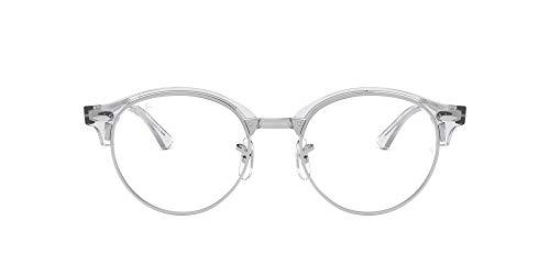 Ray-Ban Clubround, Monturas de Gafas Unisex adulto, Blanco (White Trasparent), 47