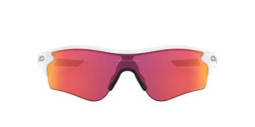 Oakley Men's Radarlock Path (a) 0OO9206 Non-polarized Iridium Wrap Sunglasses, Polished White, 38.01 mm