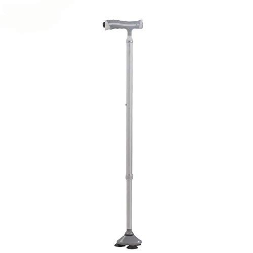 yjll wandelstok, inklapbare aluminium rug, telescooplegering, driepoot, multifunctionele LED met lampenkrug