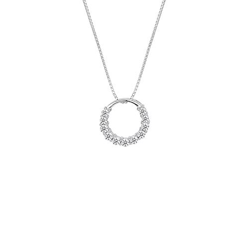 YAZHUANG8 Collar de Mujer Colección de Joyas, Acabado rodio, Cristales claros Collar Colgante para Mujeres