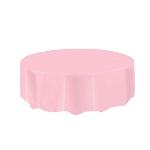 TYY-guang Desechable Mesa Redonda Cubiertas De Plástico Impermeable Manteles Manteles para Interiores O Exteriores Partes Cumpleaños Bodas Rosa De Navidad