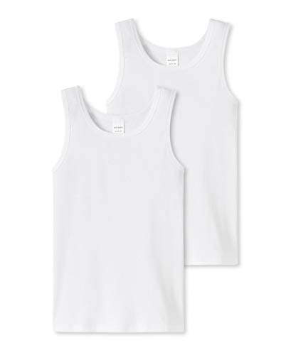 Schiesser Long Life Cotton Tank Top 6er Pack White 164