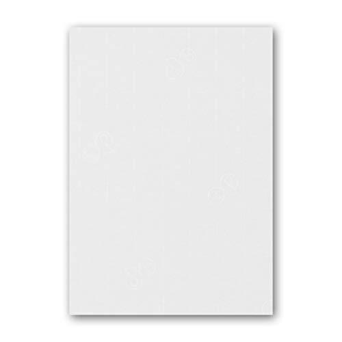 ARTOZ 50x Briefpapier - Blütenweiß DIN A4 297 x 210 mm - Edle Egoutteur-Rippung - Hochwertiges Designpapier Urkundenpapier