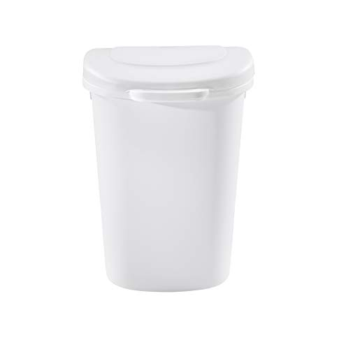 Rubbermaid 1843025 Touch-Top Wastebasket, 13-Gallon, White
