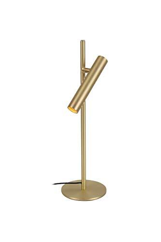 LUUK LIFESTYLE traploos dimbare LED tafellamp, LED-tafellamp, bedlamp, bureaulamp, bureaulamp, leeslamp, touchbediening, goud, mat, zwart mat, wit