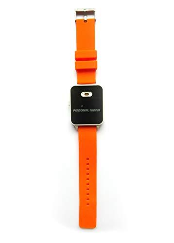 120dB Alarm-Armband, Alarmsirene und Blitzlicht am Handgelenk, im Notfall mit Fingertipp aktiviert (Orange)