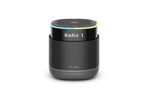 Pure StreamR DAB+/FM Smart Radio mit Alexa-Sprachsteuerung und Bluetooth (Tragbar, 15 Stunden Akku, Schnellspeichertasten, AUX-in und LCD Display), Anthrazit